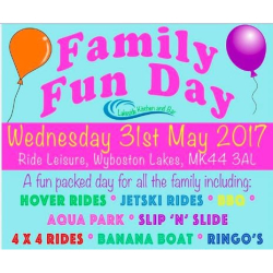 Ride Leisure Family Fun Day St Neots - Wednesday 31st May