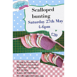 Scalloped Bunting Workshop at Living in Loveliness