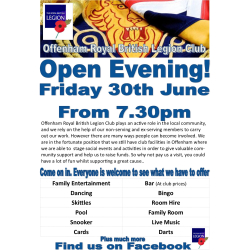 Open Eveningat Offenham Legion !