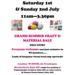 Grand Summer Craft & Material Sale