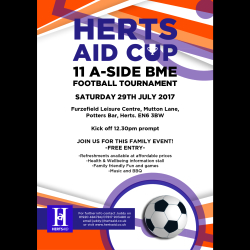 Herts Aid Community Cup 2017 - BME Football Tournament
