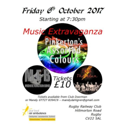 Live Music Extravaganza in aid of The Air Ambulance - 3 bands including Midnite FB, Red Thunder &  the Pinkertons