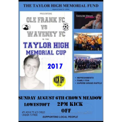 Charity Football Match for Taylor High Memorial Fund