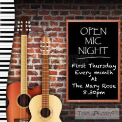 Open Mic @ The Mary Rose Walsall