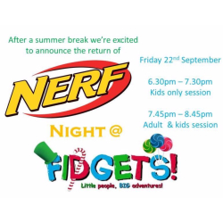 The return of Nerf Night @ Fidgets