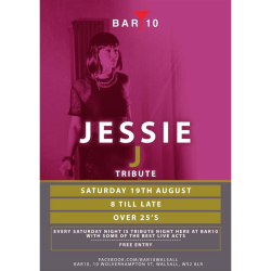 Saturday Night at Bar 10 Walsall with Jessie J Tribute Act