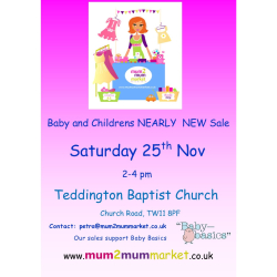 Teddington Mum2mum Market Baby and Children Nearly New Sale