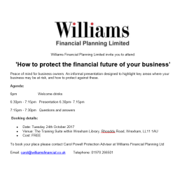 'How to protect the financial future of your business'