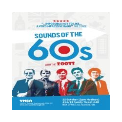 Sounds of the Sixties show at the YMCA Theatre, Scarborough with The Zoots