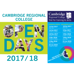 June Open Day 2018