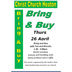 Bring & Buy with Refreshments