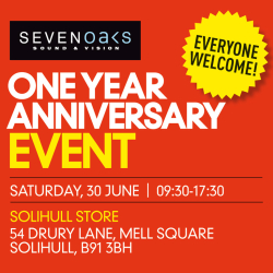 Sevenoaks Sound and Vision Solihull One Year Anniversary Event
