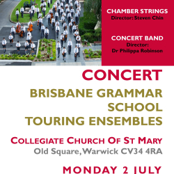 Brisbane Grammar School Touring Ensembles