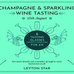 Champagne and Sparkling Wine Tasting - Leyton Star, East London