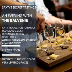 Saxtys Secret Tasting - The Balvenie Whisky