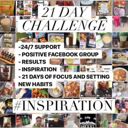 21 day challenge for a healthier you