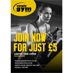 Amazing Membership Deals Event at Simply Gym, Walsall