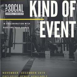 Christmas Parties at Tap Social with Ross and Ross Events
