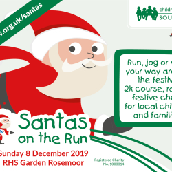 Santas on the Run 2019 RHS Rosemoor
