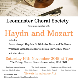 An evening with Haydn and Mozart