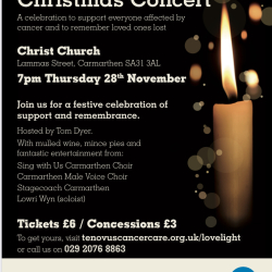 Tenovus Cancer Care Carmarthen Lovelight Concert