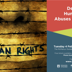 Dundee Arts Café: Dealing with Human Rights Abuses in Conflict