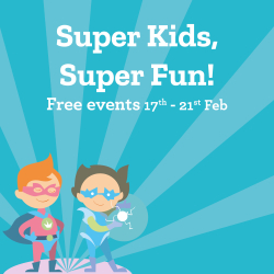 Join us for some free fun activities at The Square with our Half Term Kids Camp 17th Feb-21st Feb
