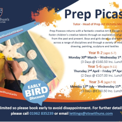 Prep Picasso's @ St Swithuns School - A creative camp for your budding artist