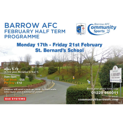 Barrow AFC February Half Term Programme