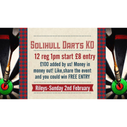 Rileys Solihull Monthly Darts KO