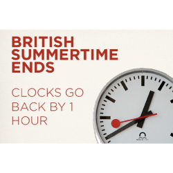 CLOCKS GO BACK as British Summer Time Ends