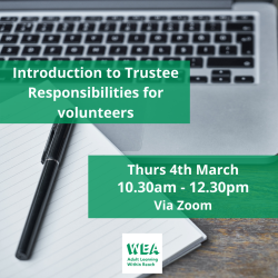 Introduction to Trustee Responsibilities for Volunteers FREE Course with @WEAEastSurrey - #Epsom & #Ewell Employment Skills Initiative