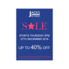 40% OFF SALE at Jacks starts 28th December!