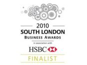 South London Business Awards 2010 Finalist