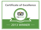 Trip Advisor Certificate of Excellence 2012/2013