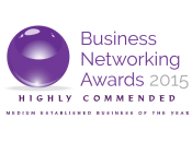 Business Networking Awards Highly Commended 2015