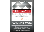 The Lawyer - Management Award WINNER 2014