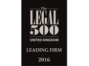 Leading Firm 2016 - The Legal 500