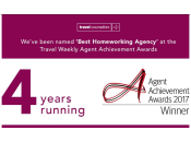 Travel Weekly Best Homeworking Agency - 4 wins