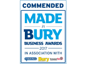 Commended - Made in Bury Business Awards 2017