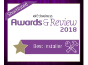 Finalist for Best Installer - EK&B Business