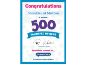 500 Validated Reviews Certificate