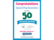 50 Validated Reviews Certificate