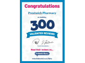 300 Validated Reviews Certificate
