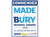 Commended - Made in Bury Business Awards 2018
