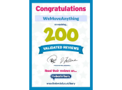 200 Validated Reviews Certificate