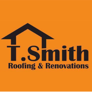 t, smith-roofing, and, renovations, logo