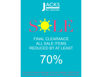 FINAL CLEARANCE - now AT LEAST 70% Off Summer Sale At Jacks for Women!
