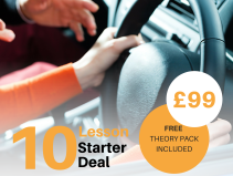 10 Lesson Starter Deal for NEW Learners Only - £99 plus FREE Theory Pack Included!