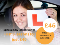 First 3 Lessons - JUST £45!